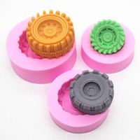 automobile mold - Automobile tires car wheels sugar cake mold chocolate cake baking mould pieces set
