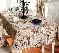 Wholesale American country red blue butterfly tablecloth Restore ancient ways the cotton cloth Waterproof and oil cloth