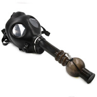 Cheap Gas mask pipe new smoking pipes Gas Mask Water Pipes Sealed Acrylic Hookah Pipe - Bong - Filter Smoking Pipe glass bong Free Shipping