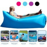 Wholesale New fashion Inflatable sofa Outdoor Camping Hiking Fast Inflatable Home Garden Beach Sleeping Bed Sofa Air Bag