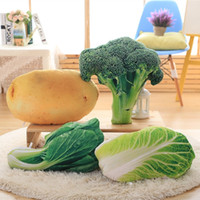 Wholesale Simulation Potato Vegetable Pillow Cushion Creative Plush toys Nap Pillow Broccoli for Christmas gifts