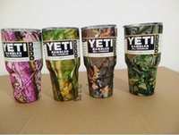 Wholesale Camouflage YETI oz Cups Cooler Colors Stainless Steel Camo Yeti ounce Rambler Tumbler Cup Car Vehicle Beer Mugs
