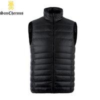 Wholesale Spring Large Size Men Winter Down Men Vest Light Sleeveless WInter Men Jacket Down Waistcoat Size S XL