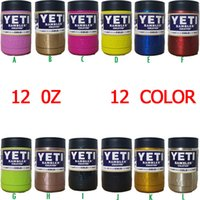 Wholesale 12 oz Yeti Stainless Steel Colster Yeti Coolers Rambler Colster YETI Cups Cars Beer Mug Insulated Koozie IN STOCK
