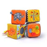alphanumeric led - 4 in set New Infant Baby Cloth Soft Educational Toys Alphanumeric Multi function Building Block WJ288