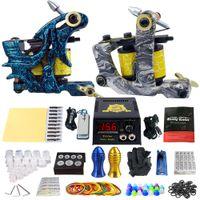 Wholesale Beginner Complete Tattoo Kit Professional Tattoo Machine Kit Coil Machine Guns Power Supply Needle Grips Set