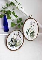Wholesale European Embroidery kits FRESH VANILLA line free drawing thyme Burnet