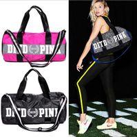 Wholesale Pink Beach Bag VS Handbags Letter Travel Bags Pink Letter Duffle Shoulder Bags Fashion Fitness Yoga Bags Waterproof Totes OOA1317