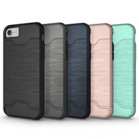 Wholesale Phone Cases for iphone Plus iphone s plus Samsung S7 Edge Wire Drawing TPU Silicone Cover Five Colors Available