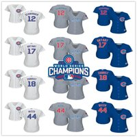 baseball shirt women - Women Chicago Cubs Kyle Schwarber kris bryant Anthony Rizzo Ben Zobrist David Ross Javier Baez Russell Female Baseball Jerseys Lady Shirt