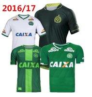 Precio de Camiseta para correr verde-2017 Chapecoense AF camisa de fútbol brasil club 3 ª calidad tailandesa fútbol jersey 17 18 hogar verde lejos blanco SoccER Running Wear camisa