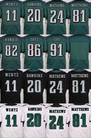 authentic jersey football - 2017 carson wentz brian dawkins Elite Football Jerseys Best quality Authentic Jersey Embroidery Logo Size M XL Can Mix Order