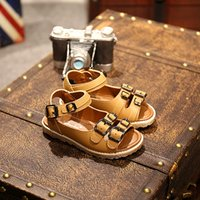 Wholesale Children sandals all match retro shoes comfort leather sandals on behalf of the new summer boy
