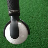 Wholesale Hot Sales Cute Golf Ball Retriever Device Durable Pick Up Ball Putter Grip Retriever Tool Golf Training Aids Black MD0120
