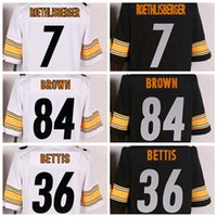 Wholesale Black Antonio Brown Jersey Playoffs Football Jerseys Elite Mens Uniforms Le Veon Bell Le Veon Bell Jerome Bettis Available