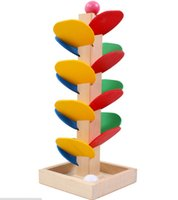 baby toy ball track - Wooden Tree Ball Run Track Game Baby Kids Children Intelligence Educational Toy