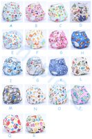 Wholesale 2014 High quality Organic Printed Cartoon Colorful baby Cloth diapers with insert Nappy