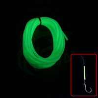 Wholesale Luminous Tubing Night Fishing Line Tube DIY Material Lure Building Soft Silicone Angling Tools Light Green