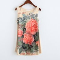 basic graphics - New Casual Women Plus Size Tops Summer Sleeveless Basic Vest Graphic Flowers Printed Women Tank Top Loose Vintage Women s Tanks