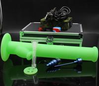 Vaporisateur herbal numérique France-D Nail Kit Digital Electronique DNail Titane Nail Domeless D-Nail WAX Vaporisateur Dry Dry Herbal avec bong en silicone coloré