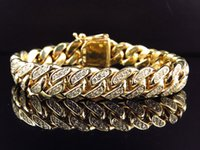 Wholesale Solid K Yellow Gold Miami Cuban Link VS Diamond Inch MM Bracelet ct