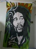 band tattoos - BOB Marley Flag x cm Polyester Hippie Band Reggae Rasta Music Festival Tattoo Shop Home Wedding Decoration Banner