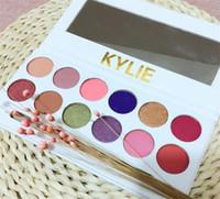 Wholesale Kylie Cosmetics Royal Peach Palette Kylie Kyshadow Eyeshadow Pressed Powder Eyeshadow Matte Waterproof Eye Shadow color DHL free