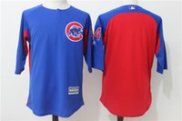 Men beat man - 2017 Latest Factory Outlet Mens Baseball Jerseys Chicago Cubs Beating Practice Jersey Mix Order Drop Shipping Size M XXXL
