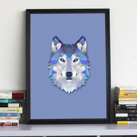 Wholesale Geometric Wolf Canvas Art Print Painting Poster Wall Pictures For Home Decoration wall art decor not Include Frame
