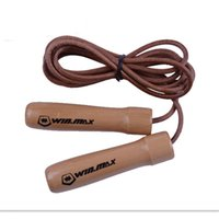 Jump Ropes 2.8 Multifunctional New Fashion Skipping Fast Speed Gym Training Sports Exercise 2 .74 Meters Jump Rope With Wood Handle And Leather Rope