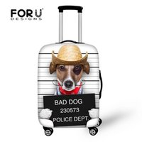 Wholesale FORUDESIGNS Elastic D Printing Animal Dog Suitcase Cover Travel luggage fashional cover convenient travel bagage couverture