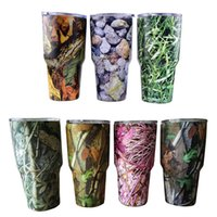 Wholesale New Arrival Camouflage oz Cups Multi color Cooler Rambler Tumbler Travel Vehicle Beer Mug Double Wall Bilayer Vacuum