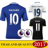 Wholesale 2017 AAA Thailand the best quality jersey Chelseaes jersey Hazard Diego Costa football clothes