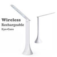 Wholesale Wireless Eye Care LED Table Lamp Desk Reading Lamp for Kid Home Office Touch Rotation Flip Book Light USB Charging Reading Light
