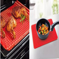 Wholesale Red Pyramid Bakeware Pan Nonstick Silicone Baking Mats Pads Moulds Cooking Mat Oven Baking Tray Sheet Kitchen Tools DHL