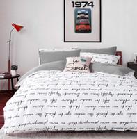 Wholesale letter Printing Activity Bedding sets Super King Queen Size Duvet Quilt cover set Bedroom Bedding Home Textiles ZY15