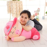 Wholesale McDull pig doll plush toy pig doll cute sleeping pillow size doll birthday gift female pig