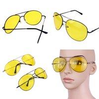 al por mayor anteojos noche del día-Venta al por mayor-Unisex Conducir gafas glasse día y noche gafas de sol marco de metal vendimia visión nocturna gafas gafas de sol de los hombres gafas de sol