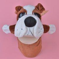 Precio de Juguete de peluche bulldog-Juguete al por mayor de la felpa de la marioneta de mano del dogo de los 25cm, regalo relleno del juguete de la muñeca del bebé / de los cabritos libera el envío
