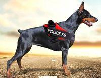Wholesale Reflective Dog Harness Vest JULIUS Police K9 Medium Large Pet Dog Training Vest Nylon Chest strap traction Four colors for dog collar
