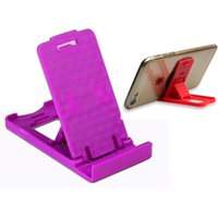 adjustable desktop stand - Foldable Flexible Adjustable Lazy Table Mini Plastic Stand Holder Desktop Bracket Mount Holder for iphone Samsung HTC Smartphone Universal
