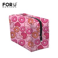 Classic Dot Pattern Cosmetic Bag Marque Pink Cute MakeUp Travel Organizer Organisateur de sacs Portable Train Case Nesesser Esthéticienne