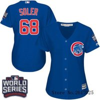 baseball style shirts for women - Newest Women s Chicago Cubs Jorge Soler Royal World Series Bound White Blue Baseball Jersey Style Shirts short sleeve for