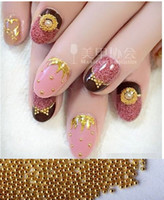 Metal beautiful highlights - mm Manicure small ball ornaments highlight super beautiful gold silver ball does not fade Manicure DIY activities