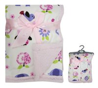 Winter baby blanket with ribbons - UK Brand Nursery Time Snuggle Baby Pimple Blanket Washable AOP Print Applique Coral Fleece Plush with Satin Ribbon Hanger Shawl Towel Animal