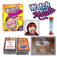 Wholesale 20 Party Game Board Game Watch Ya Mouth Game cards mouthopeners Family Edition Hilarious Mouth Guard