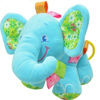 baby in car soft toy - New Animal Elephant in pink Soft Plush Crib Bed Car Hanging Hand Rattles Baby Toys Girl Boy Gift Toys