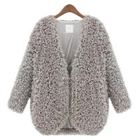 Women Fashion None Wholesale- 2015 Autumn Winter Newest Female Lambs Wool Coat Shawl Fashion Womens Capes And Ponchoes Ladies Vintage Warm Costs