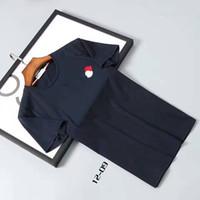 Wholesale M1716 hot sale active Luxury brand desiger mon men t shirt Fashion Casual Shirts mens tops cotton shorts Male loose plus sizes M XXXL