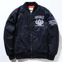air force crew - NASA Jacket Men Bomber Ma1 Men Winter Jackets Bomber Jackets Nasa Air Force Baseball Military Thickening Section Bomber Jacket And Coats